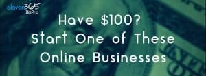 Have $100?  Start One of These Online Businesses.
