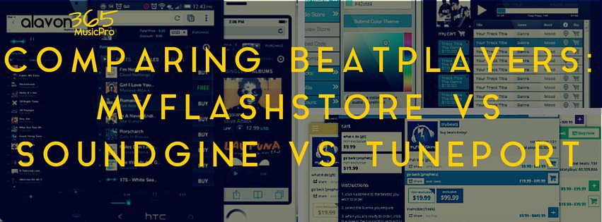 Comparing beat players: Soundgine vs Myflashstore vs Tuneport