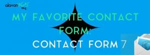 My Favorite Contact Form: Contact Form 7
