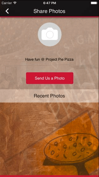 12 Mobile App Features You Can Use to Market Your Restaurant - Share photos