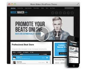 music maker wordpress theme for producers