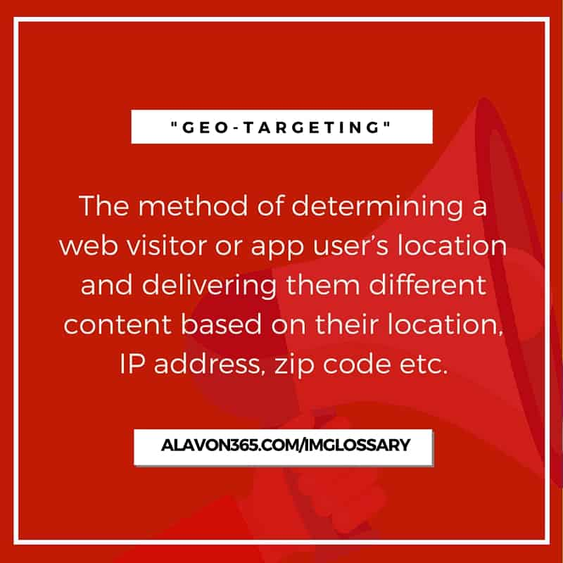 Geo-targeting - Social Media, Automation and Mobile App